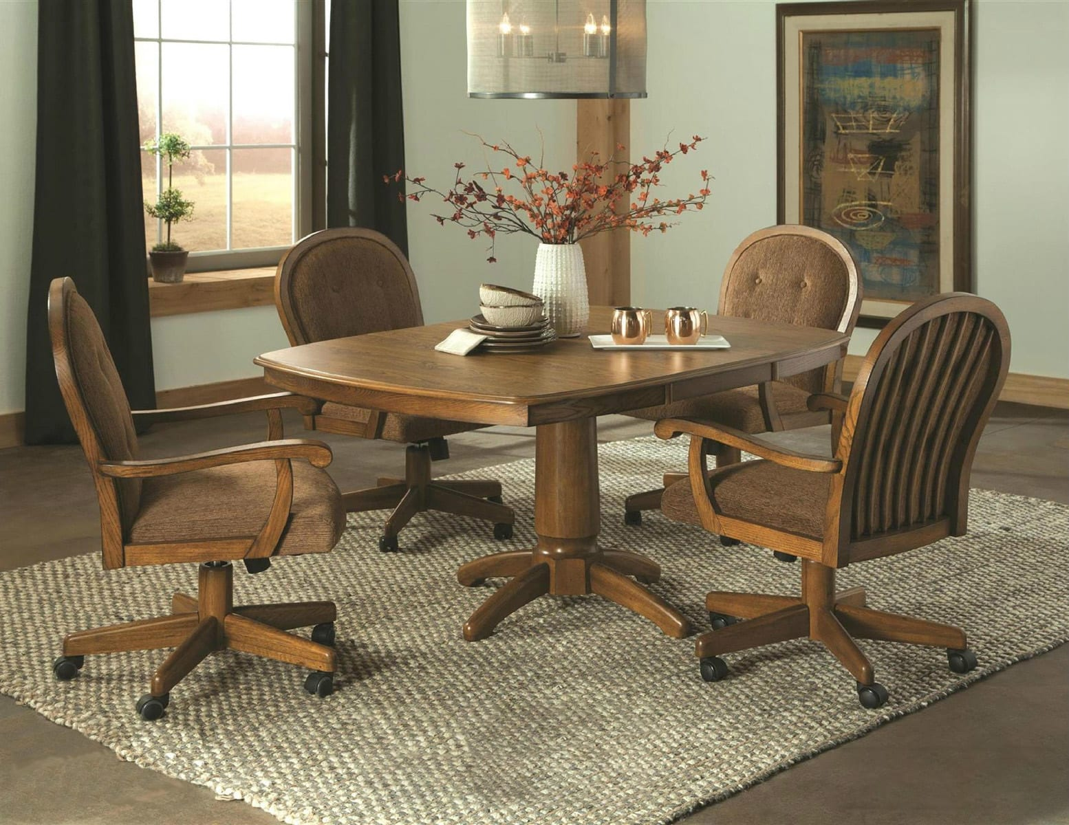 Legacy Oak Dining Table Generations Furniture Poplar
